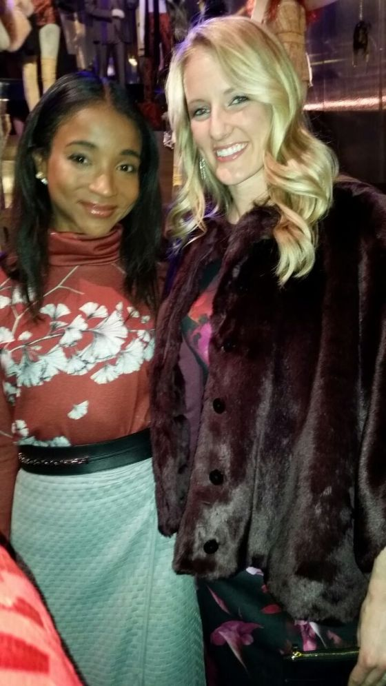 Brianne McLaughlin with New York socialite Genevieve Jones