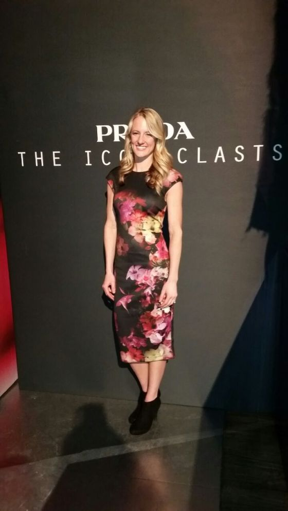 Brianne McLaughlin attended the Prada Iconoclasts to preview a special vision of Prada stores hosted by Michael Wilkinson and Tim Martin during New York Fashion Week.
